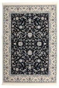 Nain Florentine - Ciemnoniebieski Dywan 250X350 Orientalny Czarny/Jasnoszary Duży ( Turcja)