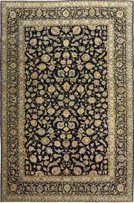 Keszan Patina Dywan 255X385 Orientalny Tkany Ręcznie Czarny/Jasnobrązowy Duży (Wełna, Persja/Iran)