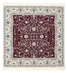 Nain Florentine - Ciemny Czerwony Dywan 150X150 Orientalny Kwadratowy Beżowy/Jasnoszary ( Turcja)