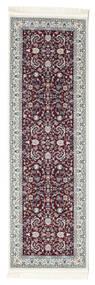 Nain Florentine - Ciemny Czerwony Dywan 80X250 Orientalny Chodnik Ciemnobrązowy/Jasnoszary ( Turcja)