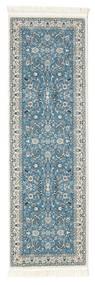 Nain Florentine - Jasnoniebieski Dywan 80X250 Orientalny Chodnik Jasnoszary/Turkusowy Niebieski ( Turcja)