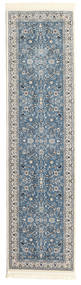 Nain Florentine - Jasnoniebieski Dywan 80X300 Orientalny Chodnik Jasnozielony/Ciemnoniebieski ( Turcja)
