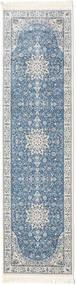 Nain Emilia - Jasnoniebieski Dywan 80X300 Orientalny Chodnik Jasnoszary/Niebieski ( Turcja)