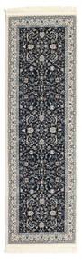 Nain Florentine - Ciemnoniebieski Dywan 80X300 Orientalny Chodnik Ciemnoszary/Jasnoszary ( Turcja)