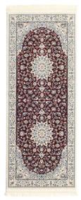 Nain Emilia - Ciemnoczerwony Dywan 80X300 Orientalny Chodnik Jasnoszary/Ciemnobrązowy ( Turcja)