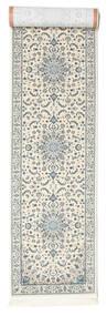 Nain Emilia - Cream/Jasny Niebieski Dywan 80X350 Orientalny Chodnik Jasnoszary/Beżowy ( Turcja)