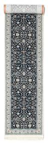 Nain Florentine - Ciemnoniebieski Dywan 80X350 Orientalny Chodnik Jasnoszary/Ciemnoszary ( Turcja)