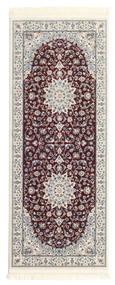 Nain Emilia - Ciemnoczerwony Dywan 80X200 Orientalny Chodnik Ciemnobrązowy/Jasnoszary ( Turcja)