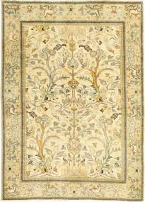 Tebriz Patina Dywan 100X140 Orientalny Tkany Ręcznie Beżowy/Ciemnobeżowy/Jasnozielony (Wełna, Persja/Iran)