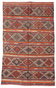 Kilim Pół -Antyk Tureckie Dywan 166X271 Orientalny Tkany Ręcznie Ciemnoczerwony/Brązowy (Wełna, Turcja)