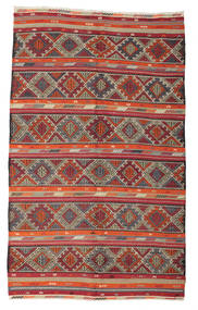 Kilim Pół -Antyk Tureckie Dywan 190X312 Orientalny Tkany Ręcznie Ciemnoczerwony/Jasnoszary (Wełna, Turcja)