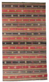 Kilim Pół -Antyk Tureckie Dywan 185X330 Orientalny Tkany Ręcznie Ciemnoczerwony/Rdzawy/Czerwony (Wełna, Turcja)