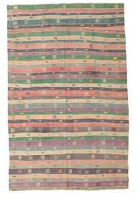 Kilim Pół -Antyk Tureckie Dywan 196X308 Orientalny Tkany Ręcznie Ciemnoszary/Jasnofioletowy (Wełna, Turcja)