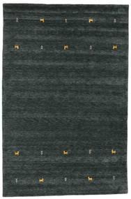 Gabbeh Loom Two Lines - Ciemnoszary/Zielony Dywan 190X290 Nowoczesny Czarny (Wełna, Indie)