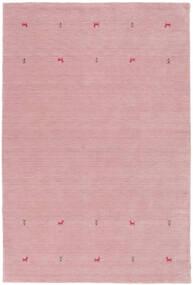 Gabbeh Loom Two Lines - Różowy Dywan 190X290 Nowoczesny Jasnoróżowy (Wełna, Indie)