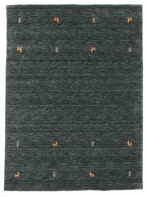 Gabbeh Loom Two Lines - Ciemnoszary/Zielony Dywan 140X200 Nowoczesny Czarny/Ciemnoszary/Ciemnozielony (Wełna, Indie)