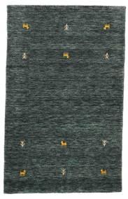 Gabbeh Loom Two Lines - Ciemnoszary/Zielony Dywan 100X160 Nowoczesny Czarny/Ciemnoszary (Wełna, Indie)
