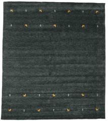 Gabbeh Loom Two Lines - Ciemnoszary/Zielony Dywan 240X290 Nowoczesny Czarny (Wełna, Indie)