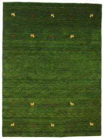 Gabbeh Loom Two Lines - Zielony Dywan 140X200 Nowoczesny Ciemnozielony (Wełna, Indie)