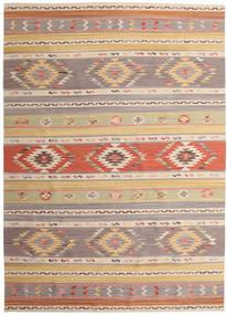 Kilim Nimrud Dywan 240X340 Nowoczesny Tkany Ręcznie Jasnoszary/Ciemnobeżowy (Wełna, Indie)