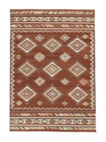 Kilim Malatya Dywan 190X290 Nowoczesny Tkany Ręcznie Ciemnoczerwony/Czerwony (Wełna, Indie)