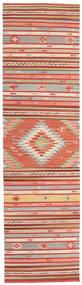 Kilim Mersin Dywan 80X300 Nowoczesny Tkany Ręcznie Chodnik Rdzawy/Czerwony/Biały/Creme (Wełna, Indie)