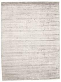 Bamboo Jedwab Loom - Warm Szary Dywan 300X400 Nowoczesny Jasnoszary/Biały/Creme Duży ( Indie)