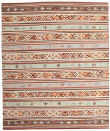 Kilim Anatolian Dywan 240X290 Nowoczesny Tkany Ręcznie Ciemnoczerwony/Beżowy (Wełna, Indie)