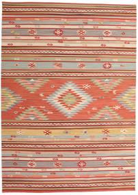 Kilim Mersin Dywan 160X230 Nowoczesny Tkany Ręcznie Rdzawy/Czerwony/Ciemnoczerwony (Wełna, Indie)