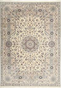 Nain 6La Habibian Dywan 242X348 Orientalny Tkany Ręcznie Jasnoszary/Beżowy (Wełna/Jedwab, Persja/Iran)