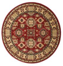Szyrwan Kazak Dywan Ø 200 Orientalny Okrągły Ciemnoczerwony/Jasnobrązowy ( Turcja)
