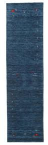Gabbeh Loom Frame - Ciemnoniebieski Dywan 80X300 Nowoczesny Chodnik Ciemnoniebieski (Wełna, Indie)