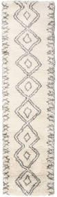 Berber Shaggy Massin Dywan 80X300 Nowoczesny Chodnik Beżowy/Jasnoszary ( Turcja)