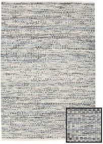 Pebbles - Szary/Niebieski Mix Dywan 140X200 Nowoczesny Tkany Ręcznie Jasnoszary/Ciemnobeżowy ( Indie)
