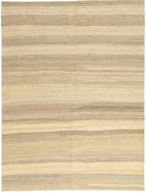 Kilim Nowoczesne Dywan 154X204 Nowoczesny Tkany Ręcznie Beżowy/Ciemnobeżowy (Wełna, Persja/Iran)