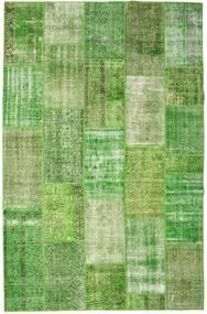 Patchwork Dywan 201X308 Nowoczesny Tkany Ręcznie Jasnozielony/Pastel Zielony (Wełna, Turcja)