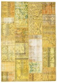 Patchwork Dywan 162X235 Nowoczesny Tkany Ręcznie Żółty/Zielony/Oliwkowy (Wełna, Turcja)
