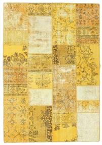 Patchwork Dywan 161X233 Nowoczesny Tkany Ręcznie Żółty/Beżowy (Wełna, Turcja)
