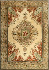 Tebriz Dywan 270X380 Orientalny Tkany Ręcznie Ciemnobeżowy/Jasnobrązowy Duży (Wełna, Persja/Iran)