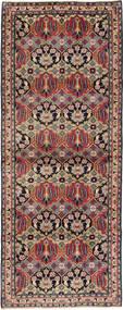 Nadżafabad Dywan 112X293 Orientalny Tkany Ręcznie Chodnik Ciemnobrązowy/Ciemnoczerwony (Wełna, Persja/Iran)
