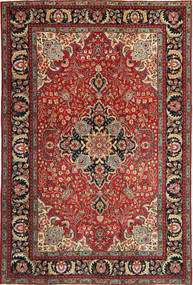 Tebriz Patina Dywan 205X305 Orientalny Tkany Ręcznie Ciemnoczerwony/Ciemnobrązowy (Wełna, Persja/Iran)