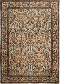 Tebriz Patina Dywan 238X338 Orientalny Tkany Ręcznie Brązowy/Ciemnoszary (Wełna, Persja/Iran)