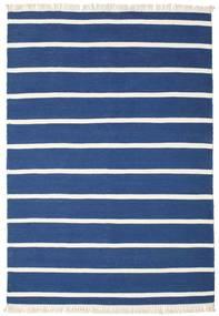 Dorri Stripe - Ciemnoniebieski Dywan 160X230 Nowoczesny Tkany Ręcznie Ciemnoniebieski/Niebieski (Wełna, Indie)