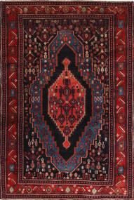 Senneh Dywan 120X190 Orientalny Tkany Ręcznie Ciemnoczerwony (Wełna, Persja/Iran)