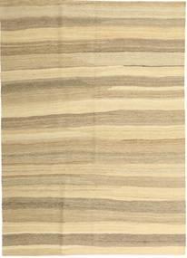 Kilim Nowoczesne Dywan 165X235 Nowoczesny Tkany Ręcznie Beżowy/Ciemnobeżowy (Wełna, Persja/Iran)