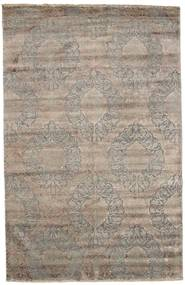 Damask Dywan 195X303 Nowoczesny Tkany Ręcznie Jasnoszary ( Indie)