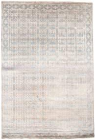 Damask Dywan 184X274 Nowoczesny Tkany Ręcznie Jasnoszary/Biały/Creme ( Indie)