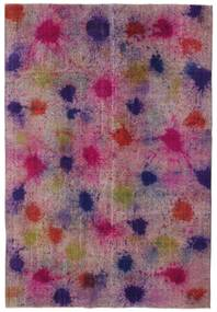 Colored Vintage Dywan 196X290 Nowoczesny Tkany Ręcznie Różowy/Fioletowy (Wełna, Turcja)