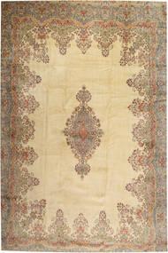 Kerman Dywan 405X605 Orientalny Tkany Ręcznie Jasnobrązowy/Beżowy Duży (Wełna, Persja/Iran)