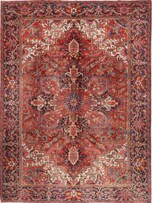 Heriz Dywan 292X383 Orientalny Tkany Ręcznie Ciemnoczerwony/Ciemnobrązowy Duży (Wełna, Persja/Iran)